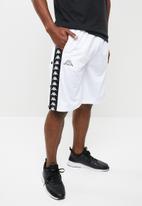 KAPPA - Snapswell shorts - white & black