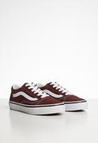 Vans - Uy old skool - ad  white & burgundy