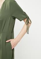 Brave Soul - Button through jumpsuit - khaki