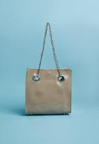 Superbalist - Chain and eyelet detail bag - beige