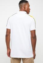Brave Soul - Goldin short sleeve tee - white & yellow