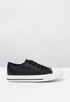 Cotton On - Classic trainer lace up - black