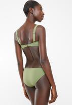 Billabong  - Sol searcher bustier bikini top - green