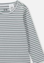 Cotton On - The long sleeve - green & white