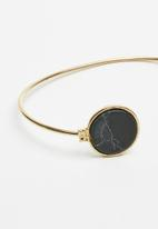 Superbalist - Marble bracelet - black & gold