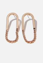 Cotton On - Shine on classic earring - gold