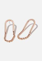 Cotton On - Shine on classic earring - rose gold