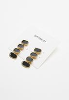 Superbalist - Connie statement earrings - black