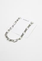 Superbalist - Hammered chain link necklace - silver