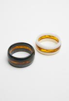 Superbalist - 2 pack infused resin bangles - multi