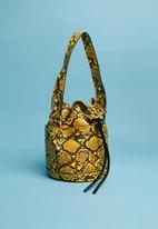 Superbalist - Animal print bucket bag - yellow & brown