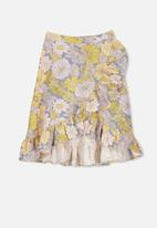Cotton On - Raquel ruffle midi skirt - multi