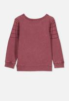 Cotton On - License crew - burgundy