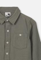 Cotton On - Fairfax long sleeve shirt - khaki
