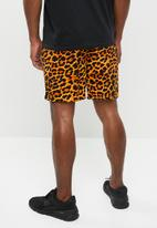 Brave Soul - Hybrid shorts - orange & black