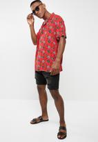 Brave Soul - Adler short sleeve shirt - red
