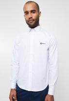 Pringle of Scotland - McNeill long sleeve styled shirt - white