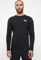 The North Face - Long sleeve simple dome tee - black