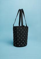 Superbalist - Round studded bucket bag - black
