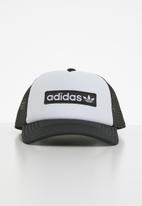 adidas Originals - Foam trucker cap - black & white