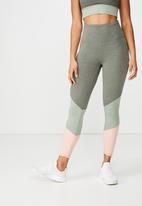 Cotton On - So soft marle 7/8 tight  - khaki green