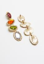 Superbalist - Multi stone drop earrings - multi