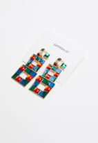 Superbalist - Mosaic embellished earrings - multi