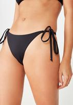 Cotton On - Tie side seamless cheeky bikini bottom - black