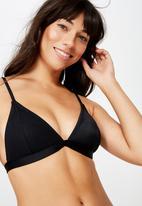 Cotton On - Fixed triangle bikini top  - black