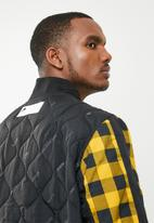 Nike - Nsw nsp bomber jacket - black & yellow