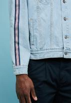 Superbalist - Loose taped denim trucker jacket - blue