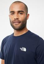 The North Face - Short sleeve red box tee - navy