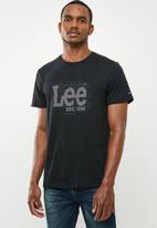 Lee  - Logo printed tee - black