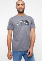 The North Face - Short sleeve out line tee - grey