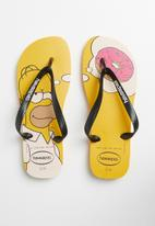 Havaianas - Simpsons flip flop - yellow