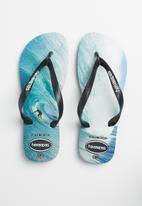 Havaianas - Top photoprint flip flop - black & blue