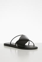 Superbalist - Claire leather cross over sandal - black