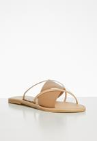 Superbalist - Claire leather cross over sandal - neutral