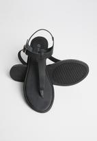 Superbalist - Zizi leather T-bar sandal - black