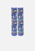 Typo - Mens droids novelty socks - blue
