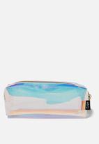 Typo - Clear bailey pencil case - blue