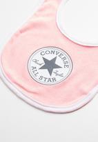 Converse - Chuck bib & bootie - pink &  white