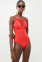 Jacqueline - Babydoll mesh one piece - red