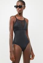 Jacqueline - Babydoll mesh one piece - black