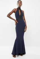 Sissy Boy - Halter maxi dress - navy & black