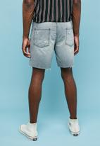 Superbalist - Ripped denim short - grey