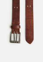Superbalist - Perforated leather belt - brown