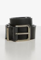 Superbalist - Basic leather formal belt - black