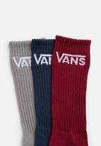 Vans - Classic crew 3pk socks - multi