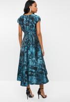 AMANDA LAIRD CHERRY - Nontathu v neck dress - blue & black